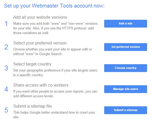 Google Webmaster Tools Help