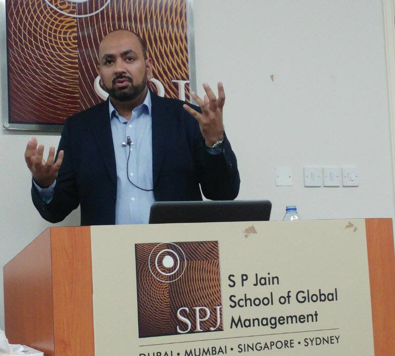 jaaved khatree seo lecture at sp jain dubai