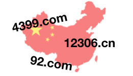china flag map numeric domains