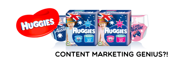 huggies australia content marketing genius header image